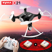 SYMA X21 Remote Control Helicopter RC Drone Quadcopter Mini Drones Aircraft 6-aixs Gyro Dron Headless mode Toys For Children original red white syma s39 2 4g 3ch rc helicopter gyro led flashing aluminum anti shock remote control toy rc drone dron