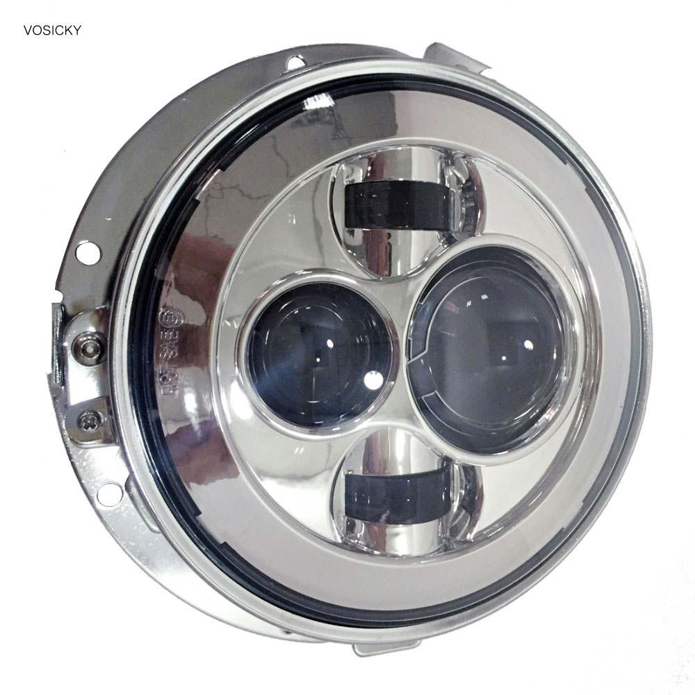 7 inch Led round Headlights 40w Motorcycle for harley Kawasaki With 7 inch headlight Bracket ring support for jeep