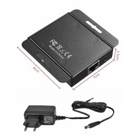 NEW 2 Port HDMI Extender IR POE Cat5e/6 Cable 1080P Transmitter Receiver Switcher with Power Adapter up to 50m