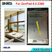 Sinbeda No Dead Pixel LCD For ASUS ZenPad 8.0 Z380 Z380C Z380KL Z380m LCD Screen Display + Touch Screen Digitizer Assembly+Tools