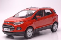 1:18 Diecast Model for Ford ECOSPORT 2015 Orange Mini SUV Alloy Toy Car Miniature Collection Gifts