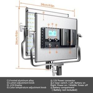 Image 5 - spash L4500 2 Sets LED Video Light with Tripod Bi color 3200K 5600K CRI95 Photography Lighting Photo Lamp Light for Video Studio