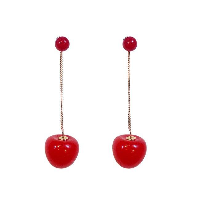 Classic Round Women Dangle Earrings Red Cherry Earrings Long Cute Women Drops Earrings Bohemian Earrings.jpg 640x640 - Classic Round Women Dangle Earrings Red Cherry Earrings Long Cute Women Drops Earrings Bohemian Earrings