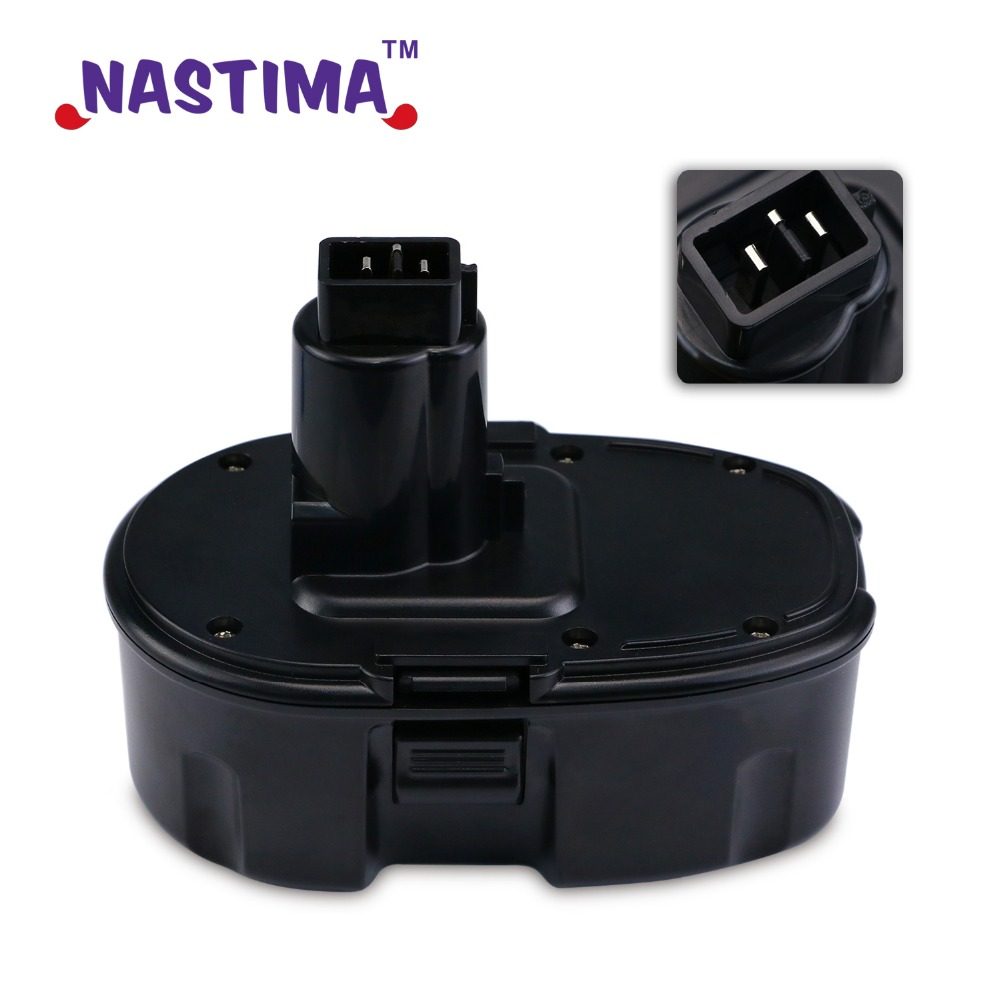 NASTIMA 18V 3300mAh NiMH Pod Style Battery Replacement Power Tool Battery for DEWALT DC9096 DC9099 High