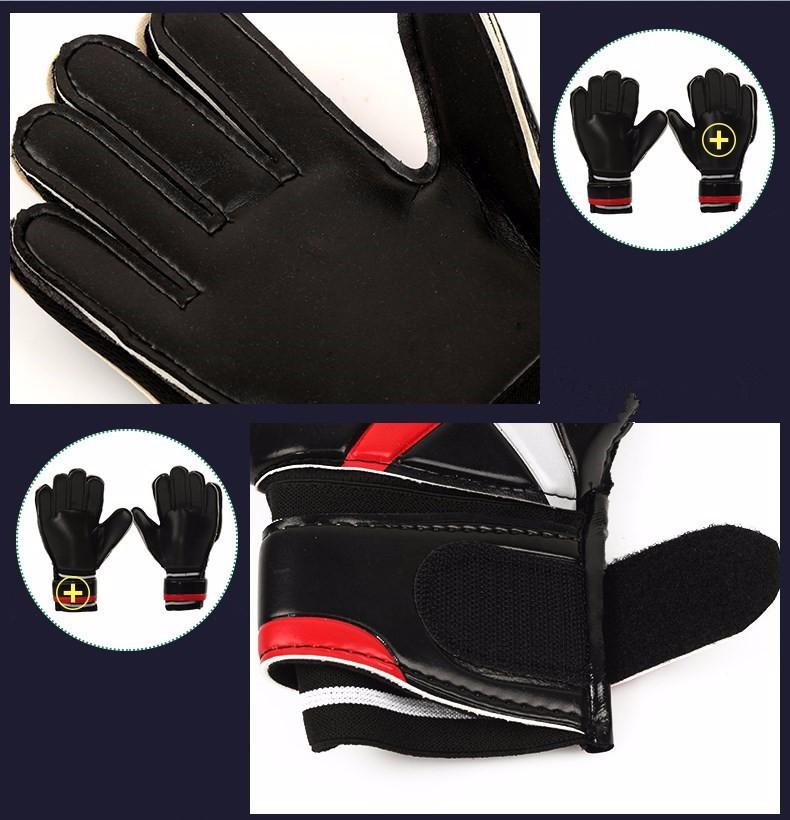 2017 Men Soccer Goalkeeper Gloves Wearable Slip Resistant Football Keeper Latex Goalie Gloves Professional Double Protection 11