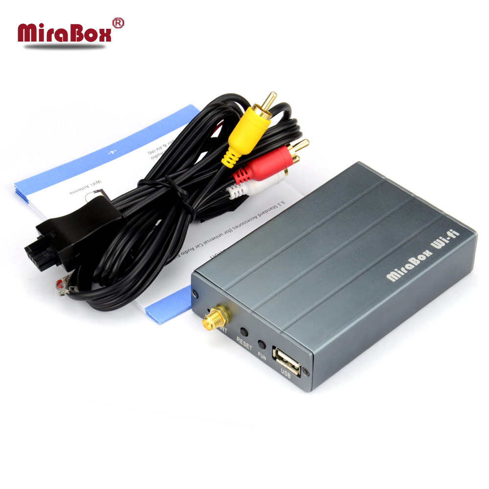 MiraBox RCA Wifi Mirrorlink Support ios10/11 Andriod PC WINDOWS Car Mirror Link Box Wifi With AllShare Cast Screen Mirroring Box mirabox display mirroring 5 8g wireless display wifi airplay mirror link for airsharing miracast allshare cast mirabox mirroring