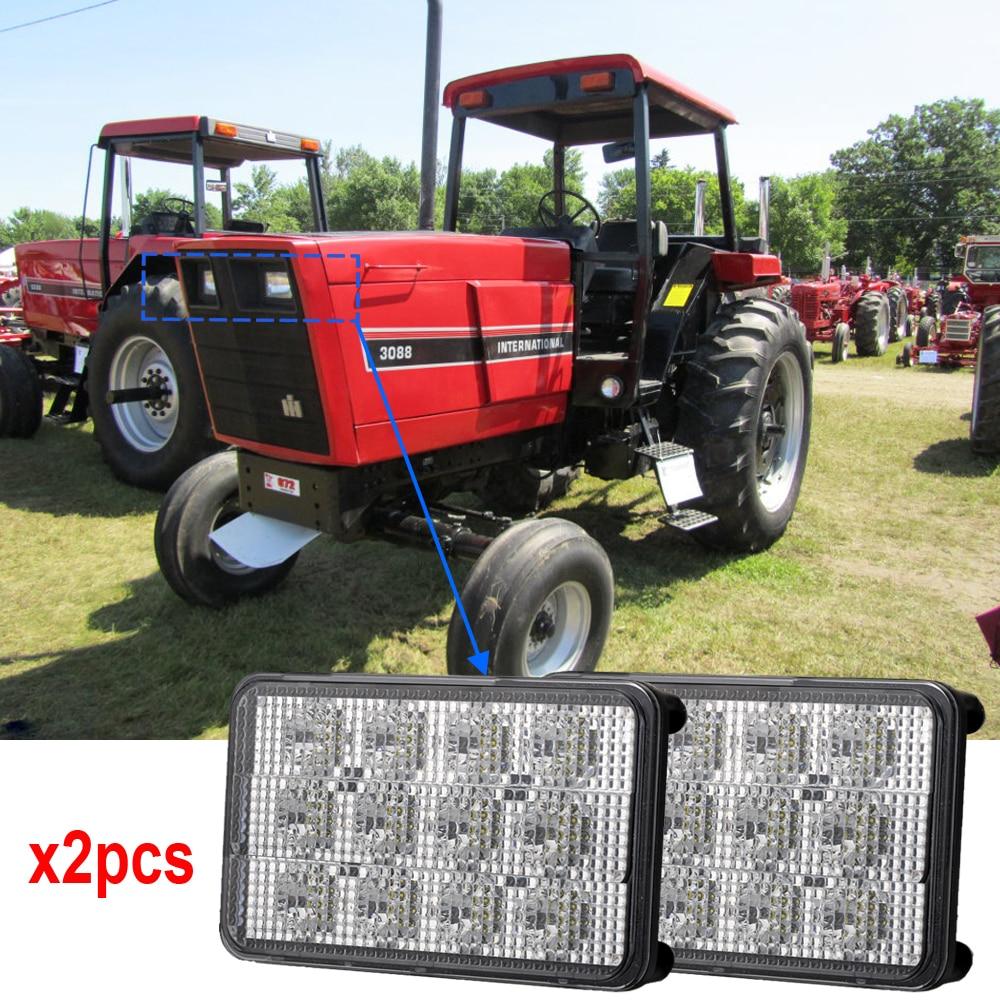 Agricultural LED Lights SM6604 12v 24v led sealed beam 6x4 headlights Flood beam 60W tractor led lights x2pcs/lots Free Shipping