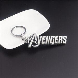 Модный брелок Мстители письмо Капитан Америка кулон Щит металлический брелок Porte Clef автомобильный брелок ювелирные изделия для мужчин подарки - Цвет: Style 9