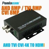HDC ADH Full HD 4K CVI/TVI/AHD+CVBS to HDMI Converter Auto Recognition 4K 720P/1080P TVI AHD CVI 8MP CVBS to HDMI Converter