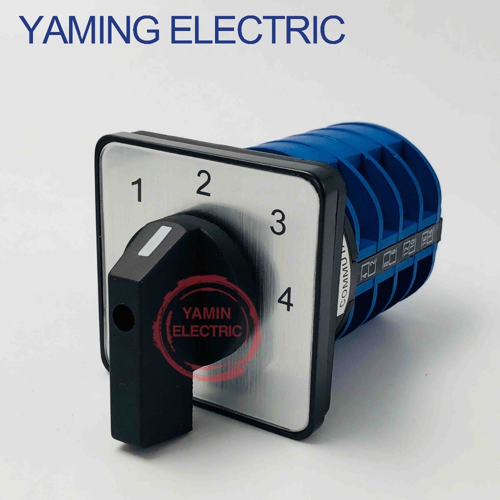 LW26 YMW26-32/4 Rotary switch 4 position 690V 32A 4 pole 16 terminal screw selector universal changeover cam main switch electric rotary selector 4 position 6 terminal changeover switch 20a 660v