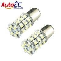 AutoEC Car light Dual color 1156 1157 60SMD 1210 3528 led Car Brake Light Automobile stop turn signal bulb 12V amber light #LF43