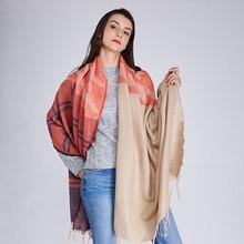 Здесь можно купить  2017 new winter  double plaid coat long cloak lattice tassel sweater cardigan female bats   Apparel Accessories