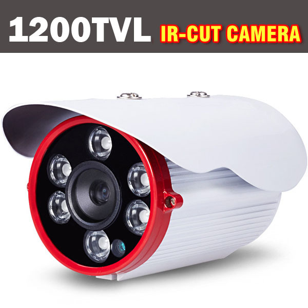 1200TVL HD IR-CUT Filter CCTV Camera Outdoor Indoor CCTV Security Camera Night Vision Weatherproof Array LED free shipping sony ccd cctv camera 1200tvl ir cut filter security ir dome camera indoor home security night vision video camera