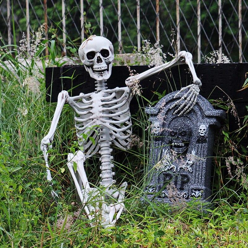 90cm halloween squelette decoração para casa assombrada 90cm esqueleto crânio de plástico para a barra halloween cosplay esqueleto crianças