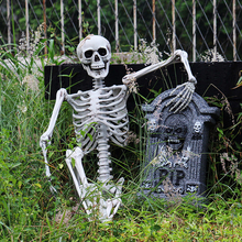 Halloween Decoration For Haunted House 90cm Plastic Skull For Bar Halloween Cosplay Skeleton Children Size For Decorations Decor