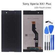 Orijinal Sony Xperia XA1 artı G3426 G3421 G3412 G3416G lcd ekran çerçeve ile dokunmatik ekranlı sayısallaştırıcı grup telefon parçaları