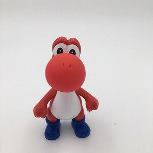 Image 3 - 5 יח\סט 5 אינץ 12CM PVC יושי סופר מריו Bros פעולה דמויות 5 צבעים מריו צעצועים קלאסיים משלוח חינם