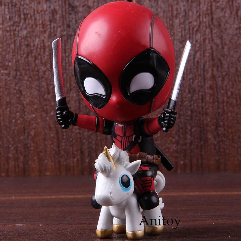 Figura de Ação maravilha Deadpool Equitação Cabeça Bobble Versão Collectible Modelo Toy Presente Para Crianças