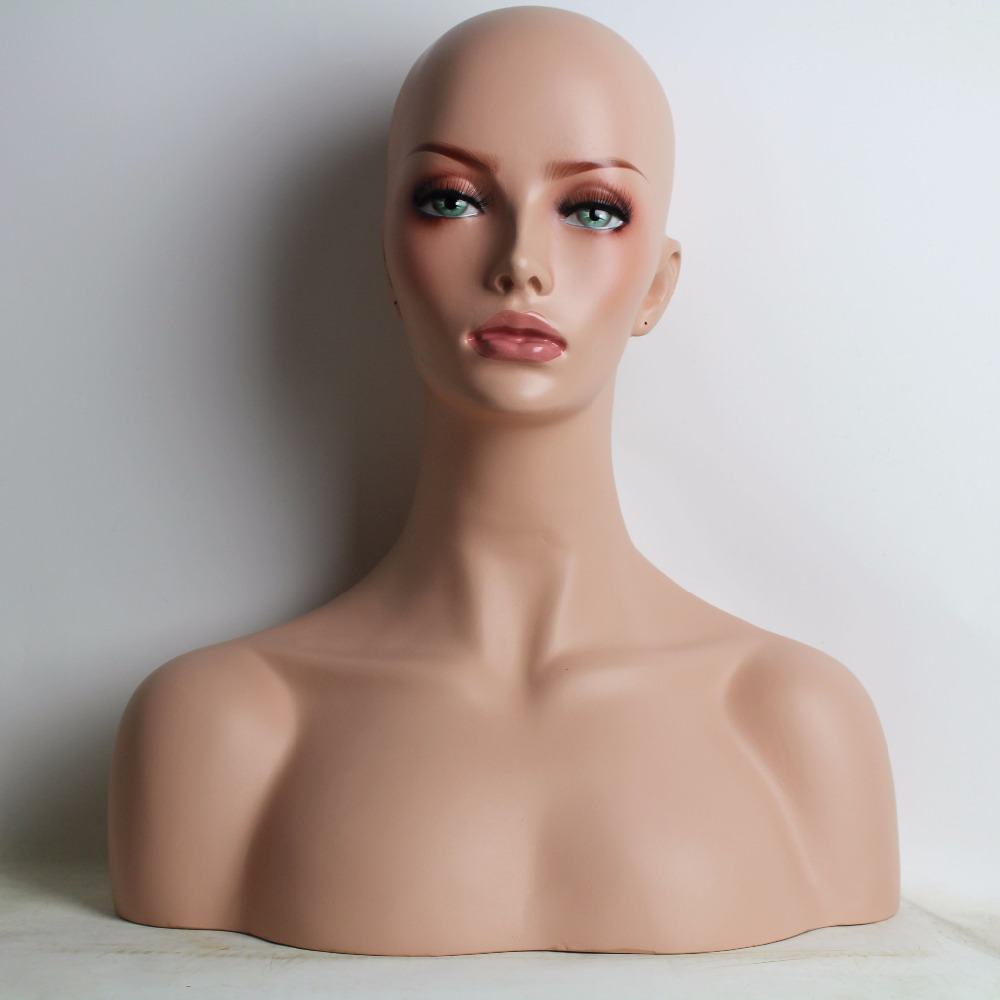 Female Fiberglass Mannequin Dummy Head Bust Sale For Wig Jewelry And Hat Display