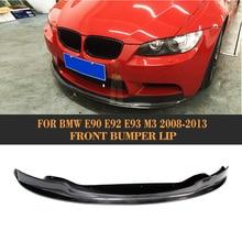 Front Bumper Diffuser Lip Spoiler for BMW E90 E92 E93 M3 2008 - 2013 Car Styling Carbon Fiber Bumper Lip Splitter Apron Spoiler цена и фото
