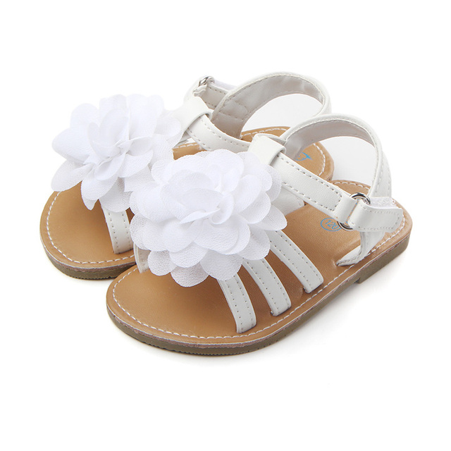 75d4ba00e9b2 Flower Fashion Design Baby Shoes PU Leather Vamp Flat And Hard Sole Baby  Girl Shoes For 0-15 Months