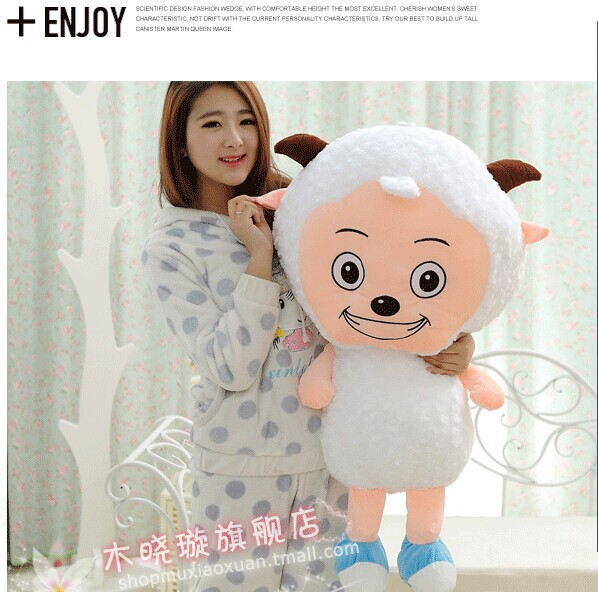 huge 100cm lovely sheep plush toy cartoon pleasant goat doll , birthday present ,Christmas gift w5490 lovely giant panda about 70cm plush toy t shirt dress panda doll soft throw pillow christmas birthday gift x023