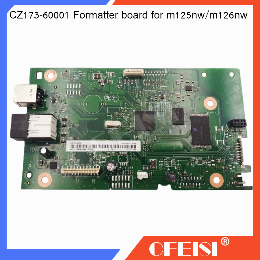 Original new LaserJet CZ173-60001 Logic Main Board Use For HP M126nw M125nw M126 M125 126nw 125nw Formatter Board Mainboard b6s02 60001 logic main board use for hp laserjet m706n m706 formatter board mainboard