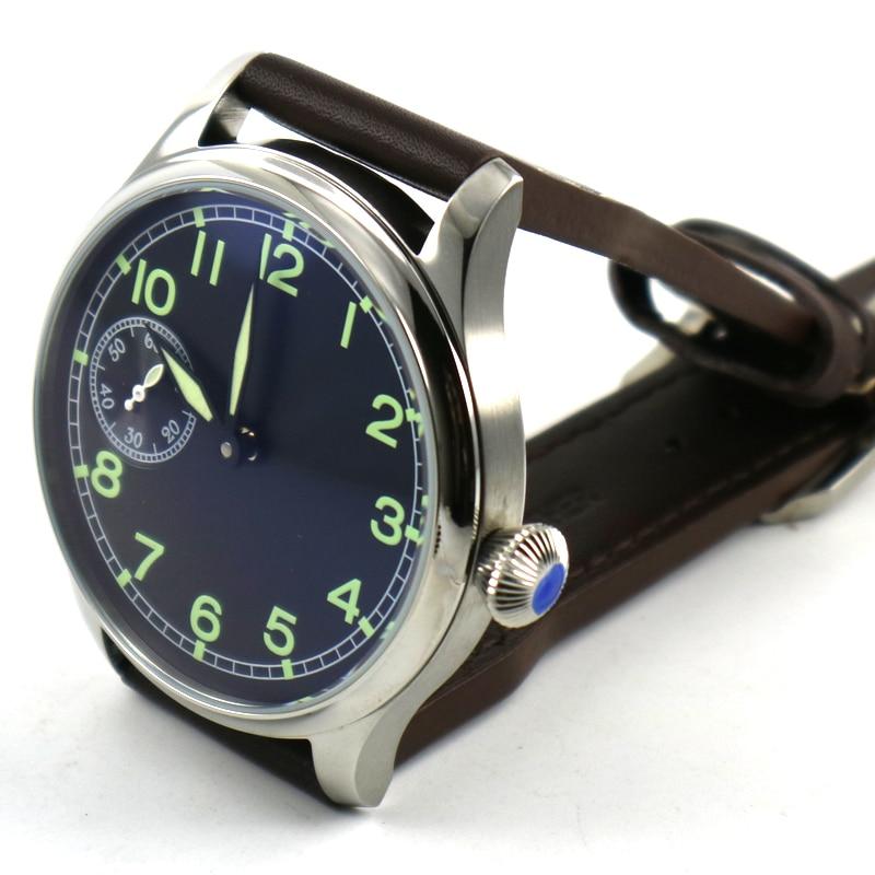 44mm parnis quadrante nero ST 3600 carica manuale 6497 mens orologio meccanico-in Orologi meccanici da Orologi da polso su  Gruppo 2