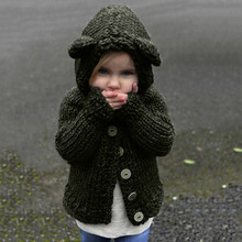 ARLONEET Jacket Girl  Pullovers Cardigan Children Coat Sweater Button Thick Winter Warm Clothes Hoodies Outerwear BFOF
