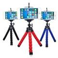 3 Em Um Mini Flexível Octopus Tripé + Suporte Suporte Do Telefone Titulares Stand para gopro hero 3 4 para iphone 6 7 huawei s7 s8 telefone