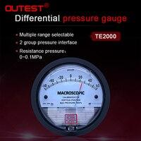 OUTEST Pressure Gauge Meter High Precision Air Differential Vacuum Manometer Micro Pressure Gauge Measuring Range 0 30PA~0 30KPA