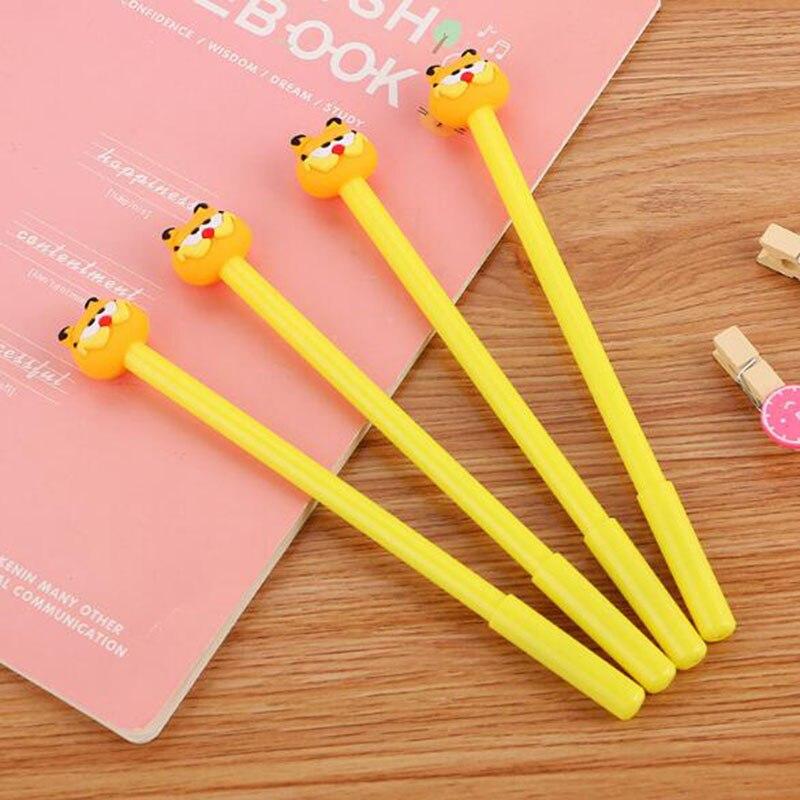 3 Pieces/batch 0.38 Mm Gel Pen Cute Cat Garfield Gel Pen Kawaii School Office Training Supplies Cute Pen Children Reward Gift
