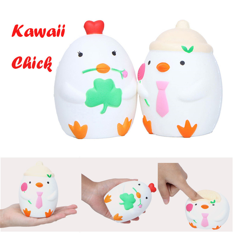 Soft Kawaii Cartoon Chick Slow Rising Scented Squeeze Relieve Stress Toy Rising Wipes Anti-stress Toys B2