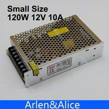 Saída de Comutação Alimentação para LED 120 W 12 V 10A Pequeno Volume Única DA Fonte de Volts Strip Suply Poder LUZ