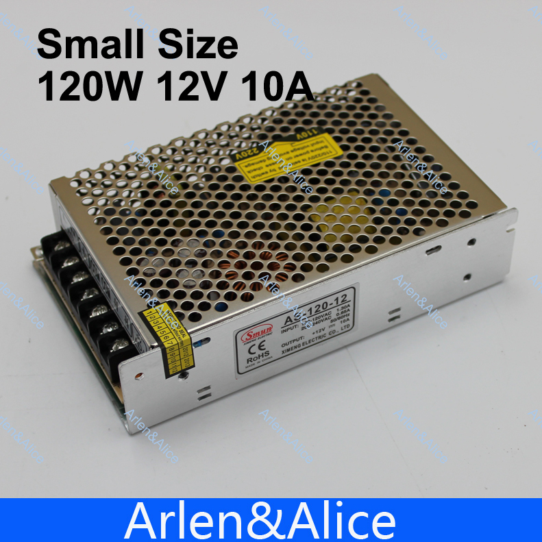 120W 12V 10A Small Volume Single 12 volt Output Switching power supply for LED Strip light power suply image