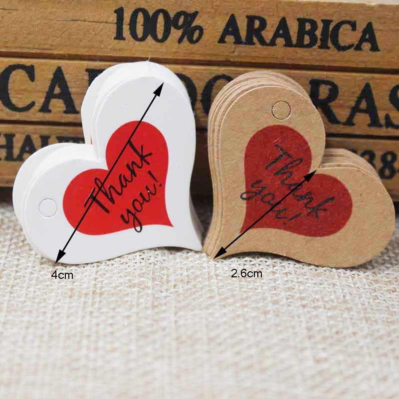 หัวใจthankของคุณฉลากของขวัญแท็กคราฟท์โฮมเมดthank youแต่งงานแบรนด์แขวนกระเป๋าแท็กป้าย200ชิ้น+ 200ชิ้นป่านสตริง