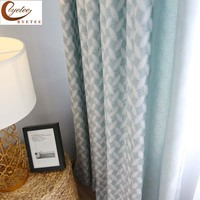 [byetee] Nordic Curtain bamboo cotton jacquard shading curtain for bedroom Living room windows blackout Fabric Drapes