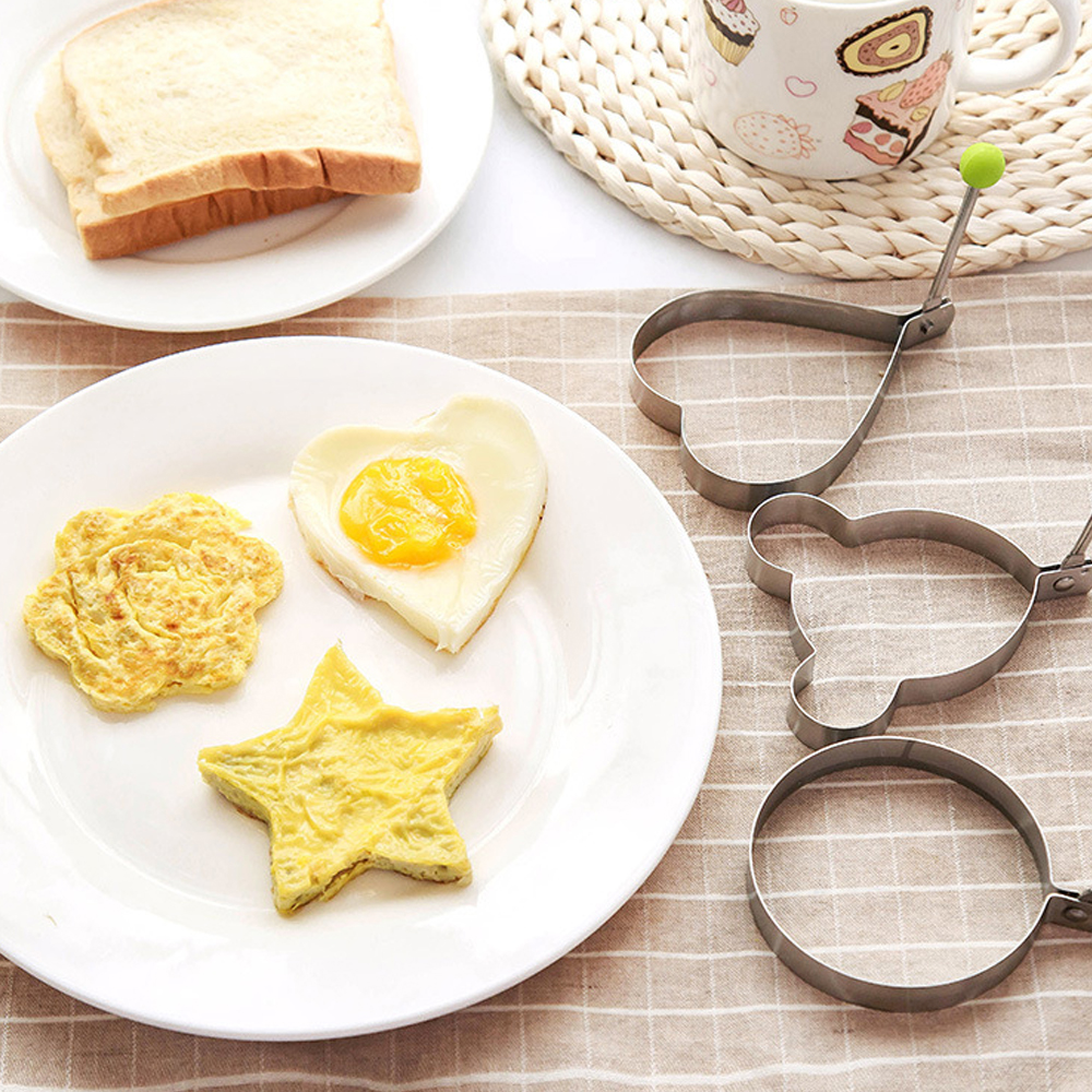 Kitchen Tools Stainless steel form for frying eggs tools omelette mould device egg/pancake ring egg shaped kitchen appliances