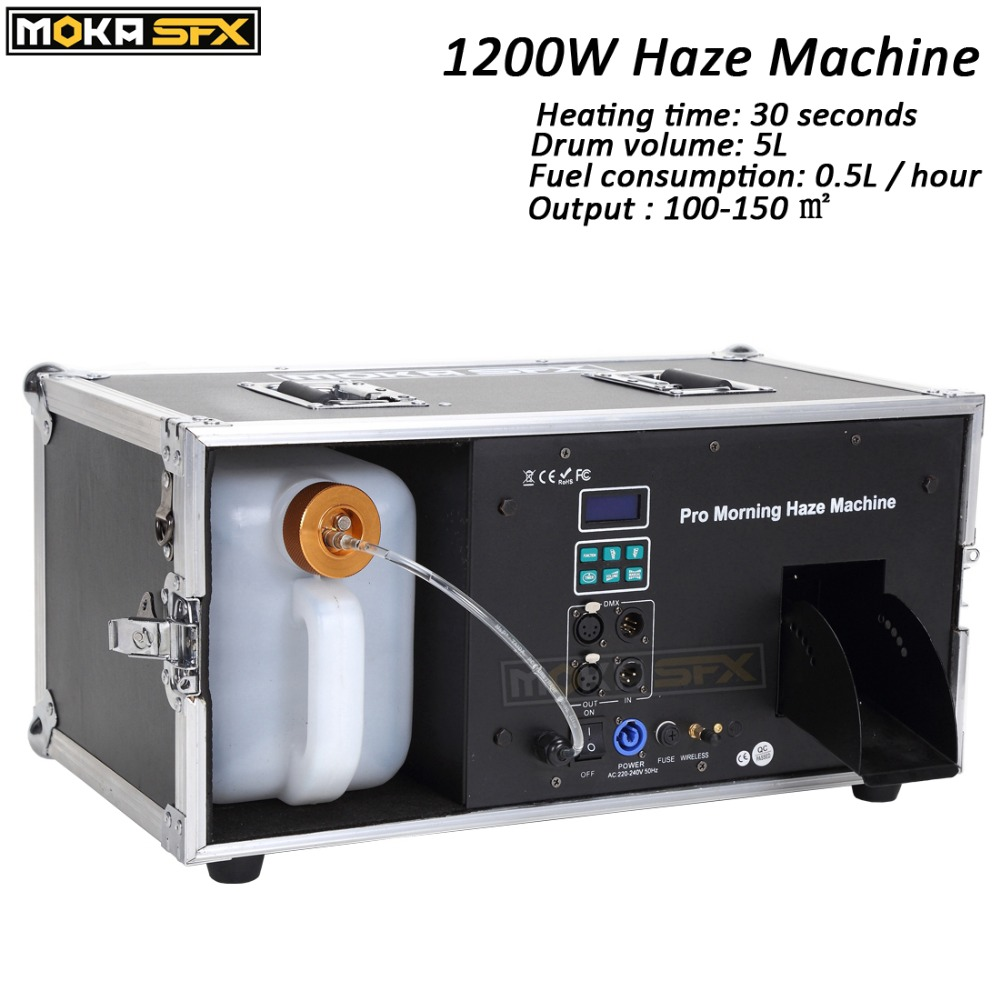 Pro Morning Haze Machine 1200W Stage Machine Fogger DMX Smoke Effects Hazer Machine Professional Fogger Stage