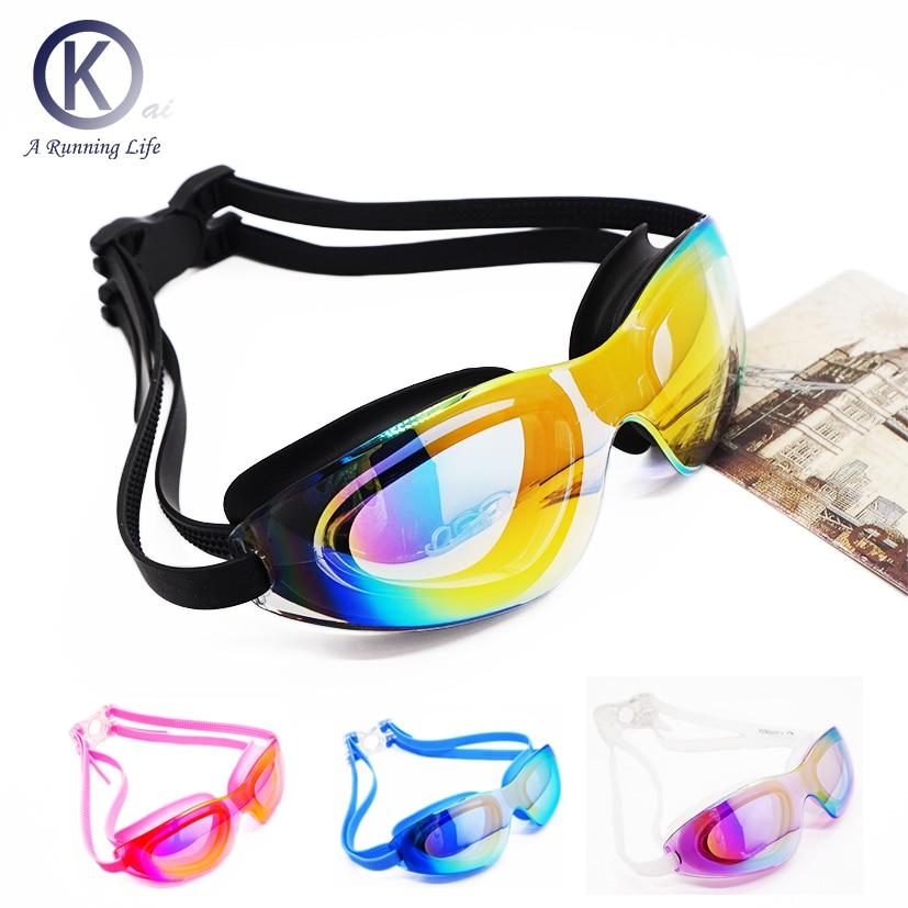 Márka úszás védőszemüveg Minőségi úszás szemüveg szilikon vízálló anti köd úszni szemüveg kényelmes szemek úszni medence tartozék