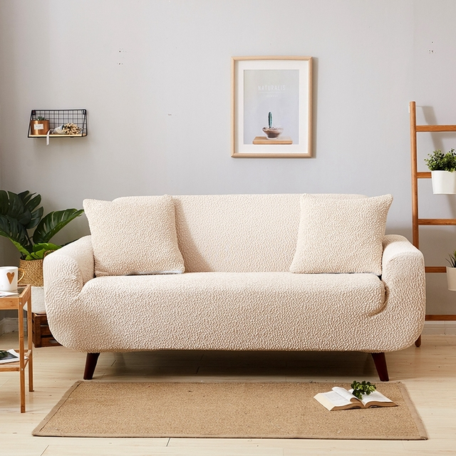 Tutubird Japanese Style Slipcover Sofa Cover Solid Simple Stretch