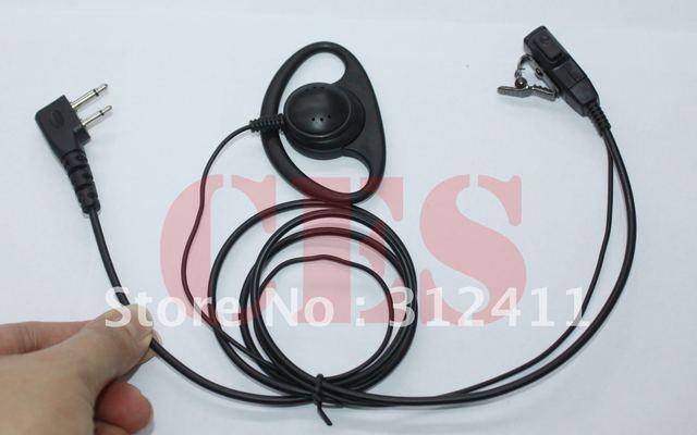 D Headset earpiece FOR ICOM IC-T90A IC-V8 Maxon SL25 SL55 SL70 SP14