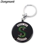DMLSKY 12pcs/set Riverdale TV Series Southside Serpents Keyring Car Keychains For Women And Men Alloy Keys Holder M2080