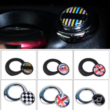 For mini cooper clubman countryman R55 R56 R57 R58 R59 R60 R61 start button sticker union jack black border inerior accessories