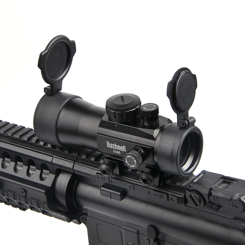 BUSHNELL 2x40 Green Red Dot Sight Scope Tactical Optics Riflescope Fit Picatinny Rail Mount 20mm 11mm Rifle Scopes for Hunting
