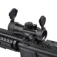 BUSHNELL 2x40 Green Red Dot Sight Scope Tactical Optics Riflescope Fit Picatinny Rail Mount 20mm Rifle