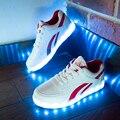 Мужской Свет Обувь для Взрослых 2017 Новая Мода красочные Светящиеся Обувь с USB Аккумуляторная Мужская Обувь со СВЕТОДИОДНОЙ огни