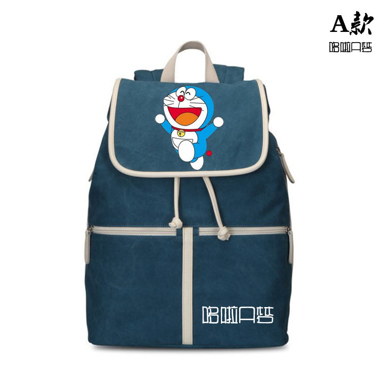 2017 New Korean hand painted Doraemon male and female students casual fashion backpack birthday gift rdgguh backpack bag new of female backpack autumn and winter new students fashion casual korean backpack