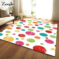 Zeegle Large Size Colorful Dot Printed Carpet For Living Room Home Decoration Children Play Mats Non