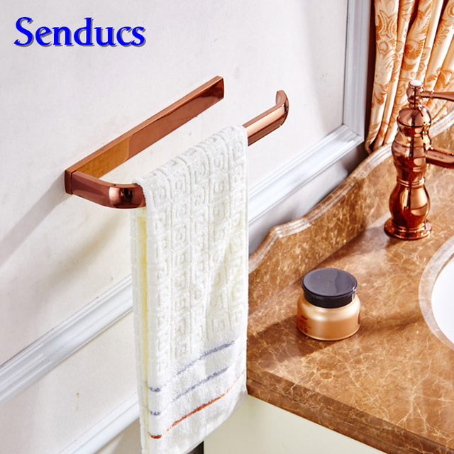 Free shipping Senducs fashion brass towel ring with rose gold wash towel ring for bath face towel holder or kitchen towel rings